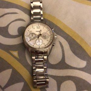 Silver Fossil women's watch
